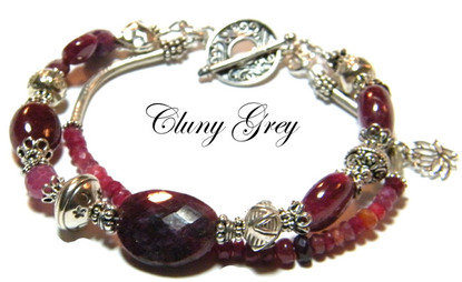 ruby bracelet with sterling silver