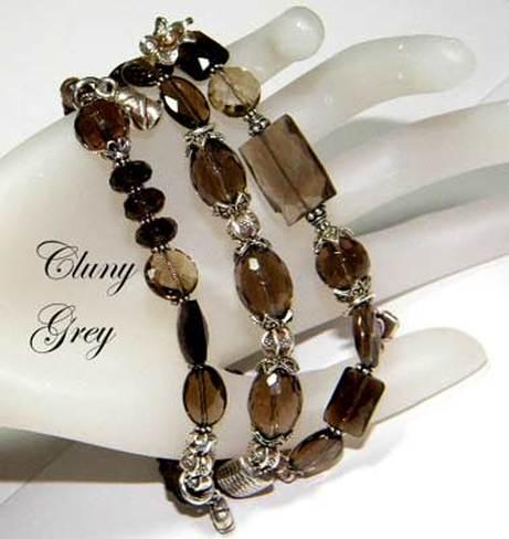 Smoky Quartz Bracelet Sterling Silver