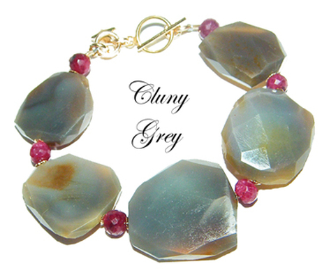 agate bracelet with rubies