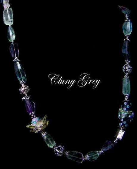 """Details about  /Lyn/'s Jewelry Fluorite Necklace Silver 18/"""""""