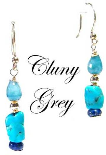 genuine turquoise earrings with lapis and turquoise