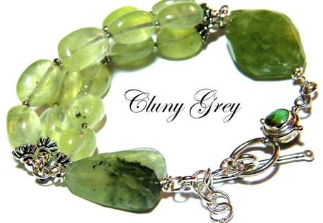 gemstone bracelet with sterling silver