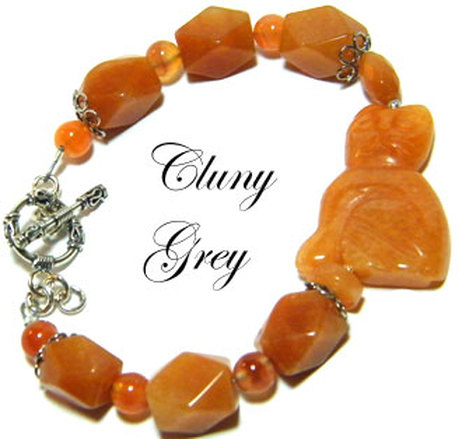 agate bracelet with agate cat