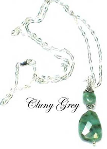 silver emerald necklace