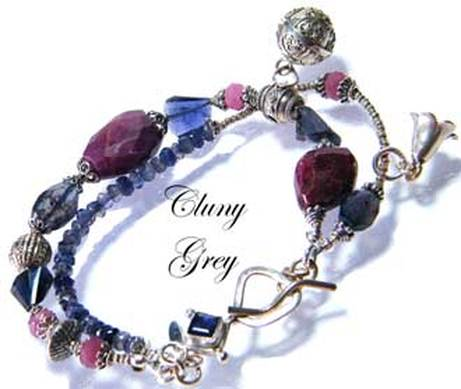 iolite bracelet with sterling silver